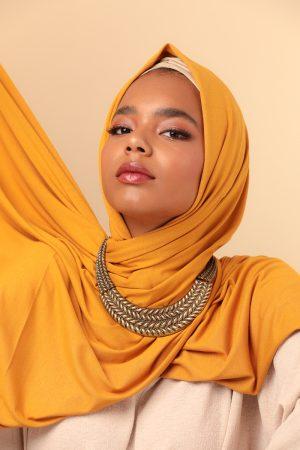 yellow mustard hijab