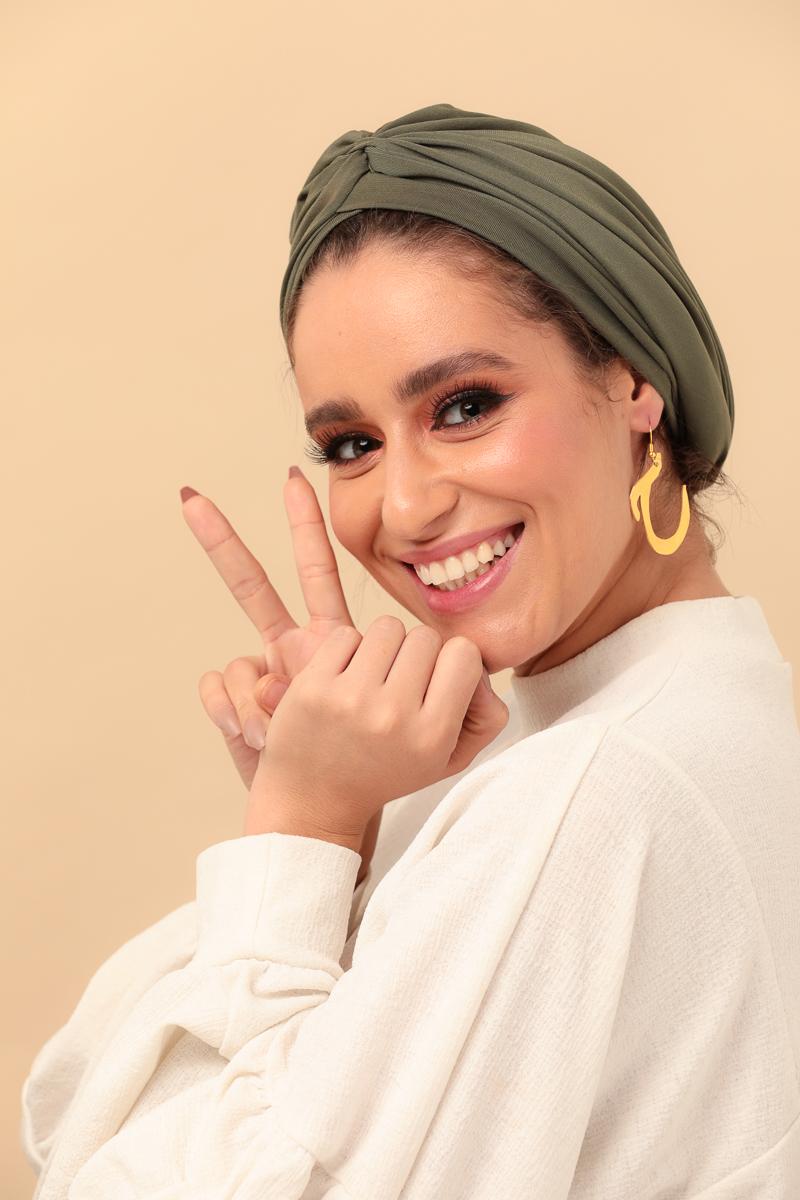khaki green turban