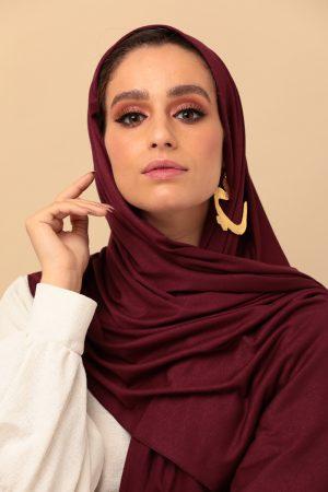 foulard jersey bordeaux