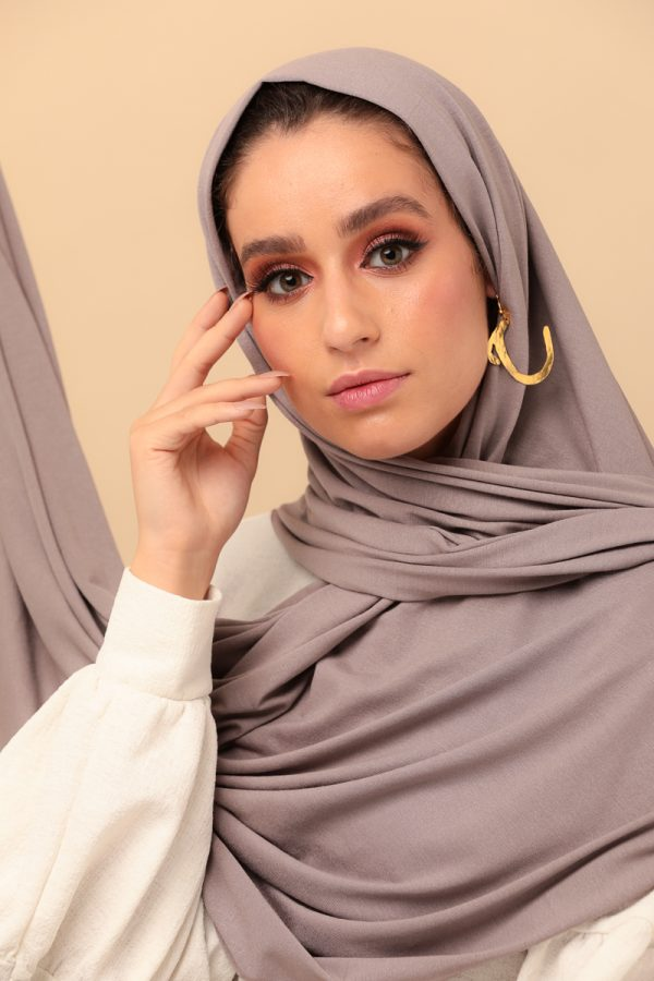 scarf taupe color