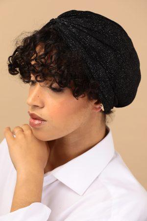 black glitter turban