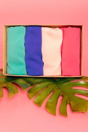 hijab chiffon box