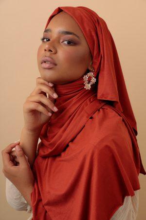 suede hijab everyday wear