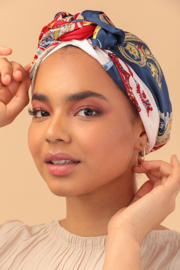 turban en satin