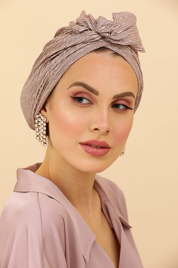 turban rose gold prêt à porter