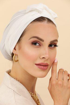 turban uni blanc