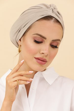 turban suédine beige